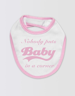 Dirty Dancing Baby's Bib - Pink