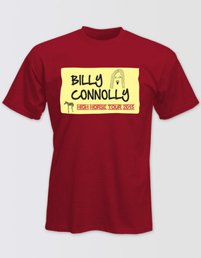 Billy Connolly Unisex Red Tour Tee