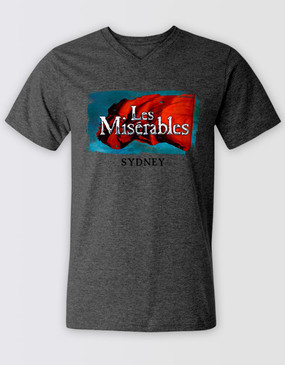 Les Miserables Australia Unisex Grey Flag Tee