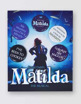 Matilda Button Badge Set