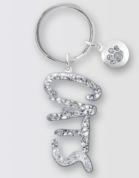 Cats Diamante Keyring