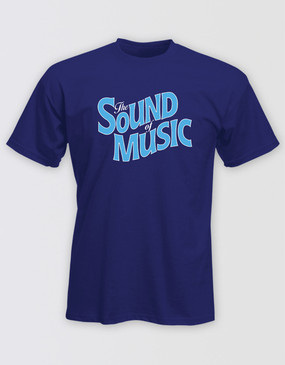 The Sound of Music Unisex Blue Logo Tee