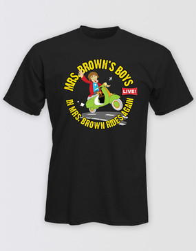 Mrs Brown's Boys 2014 Unisex Black Tour Tee