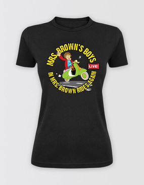Mrs Brown's Boys 2014 Ladies Black Tour Tee