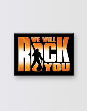 We Will Rock You Fridge Magnet