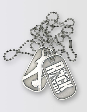 We Will Rock You Dog Tags