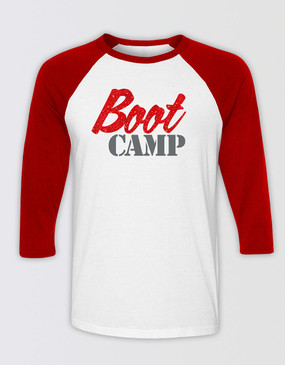 Kinky Boots Fitted Boot Camp 3/4 Sleeve T-Shirt