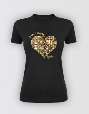 The Bodyguard Ladies Glitter T-Shirt
