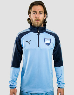 Sydney FC 17/18 Puma Youths Club 1/4 Zip Training Top