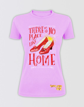"The Wizard of Oz Fitted ""There's No Place Like Home"" Glitter T-Shirt"