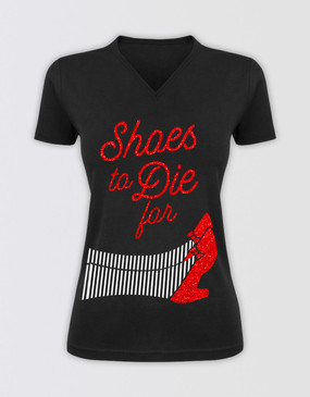"The Wizard of Oz Fitted ""Shoes to Die For"" Glitter T-Shirt"