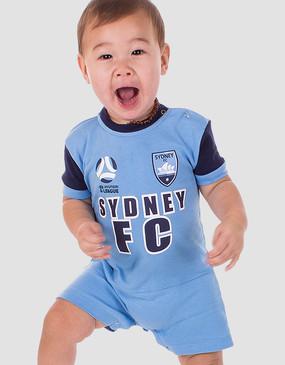 Sydney FC 17/18 Babies Short Footysuit