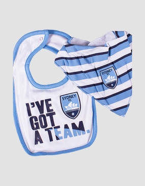 Sydney FC 17/18 Babies 2Pc Bib Set