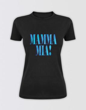 Mamma Mia! Glitter Logo T-Shirt - Fitted