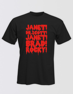 Rocky Horror Show Unisex Names Tee