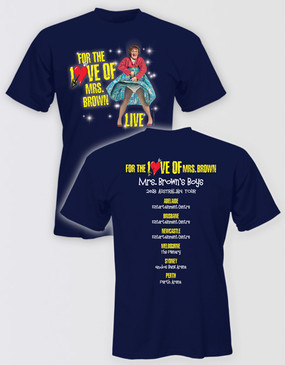 Mrs Brown's Boys 2018 Unisex Navy Tour Shirt