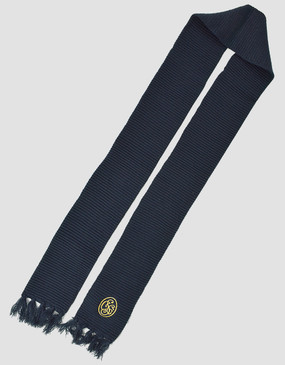 SCG Knitted Navy Scarf