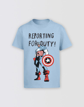 Marvel's Avengers - Kids Captain America Reporting T-Shirt