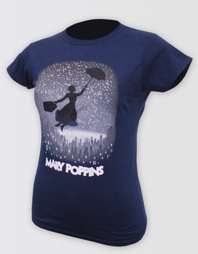 Mary Poppins Logo Navy Tee - Adults