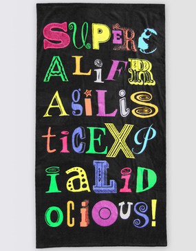 Mary Poppins Supercal Beach Towel