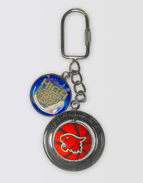 High School Musical Basketball Spinner Keyring