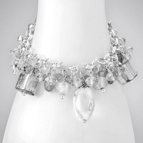 Quartz and Dichroic Glass Bracelet