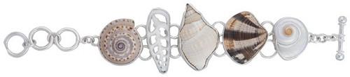 Sterling Silver Multi-Seashell Bracelet