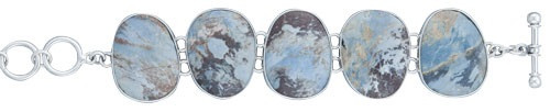 Sterling Silver Aztec Lapis Bracelet