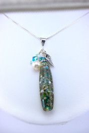 Floridian Memories Glass Long Elongated Bead Necklace