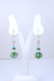 Floridian Memories Glass Bead and Sterling Earrings with No Charms - SOLD OUT