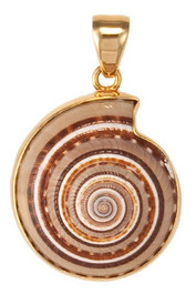 Alchemia Sundial Shell Pendant