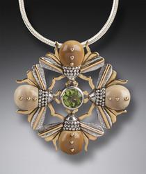 Bee Mandala Pendant
