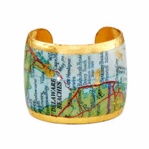 Delaware Beaches® 22K Gold Leaf Cuff