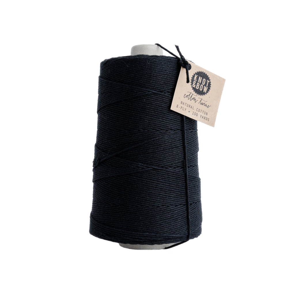 Jumbo Cotton Twine, Black