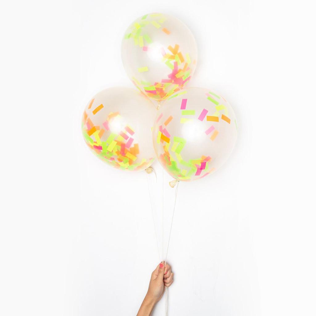 DIY Confetti Balloons, Neon