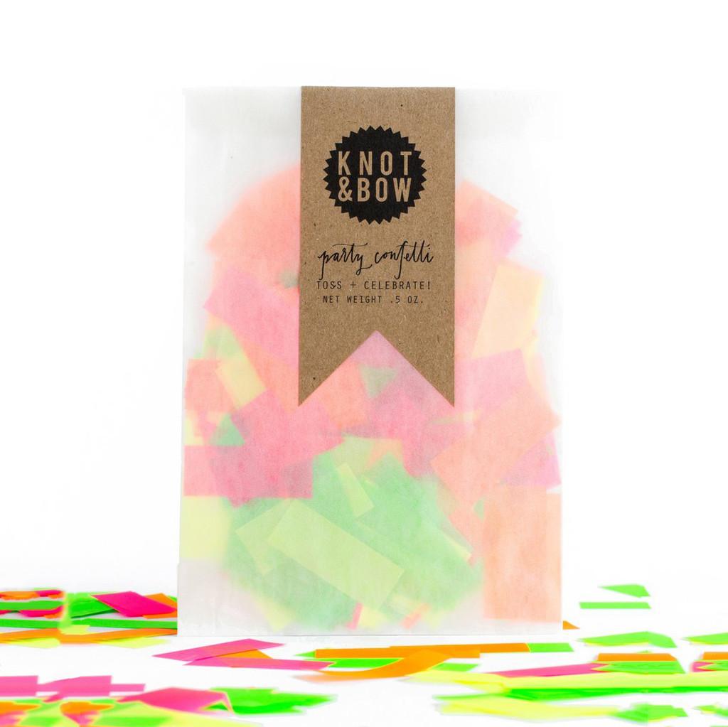 Party Confetti Bag, Neon