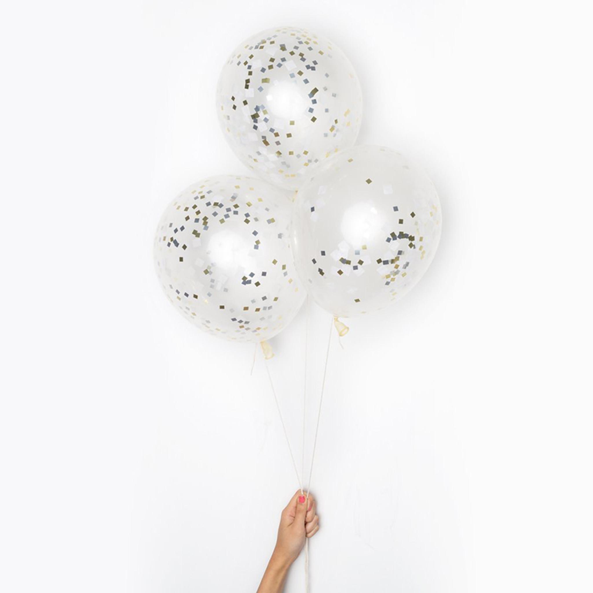 DIY Confetti Balloons, Metallic