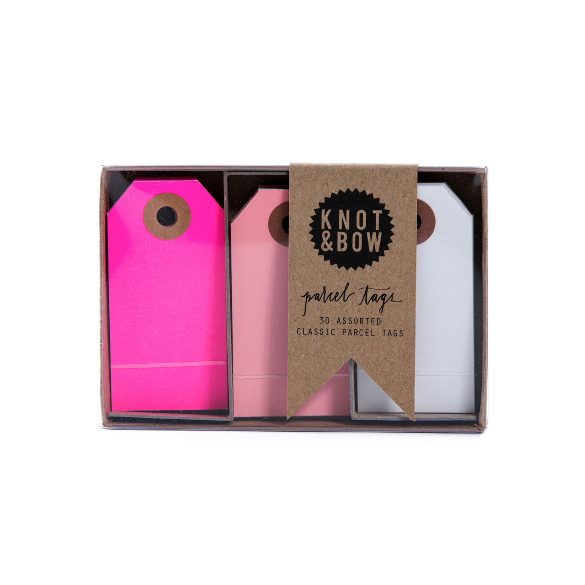 Parcel Tag Trio Box, Pink Mix