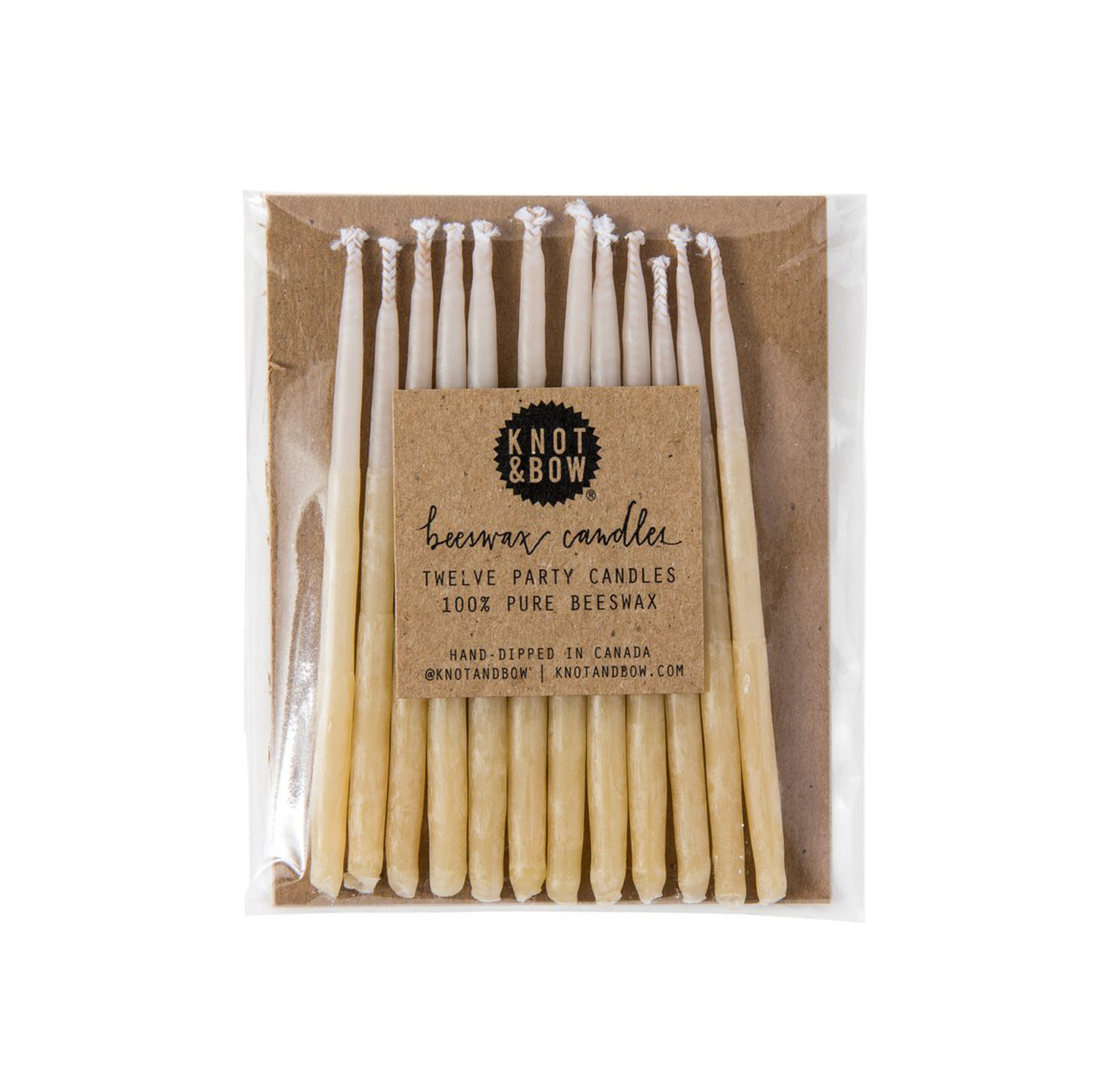 Ombré Beeswax Party Candles, Yellow