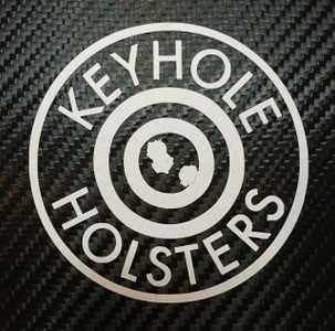 """3"""" Round Keyhole Holsters Decal"""