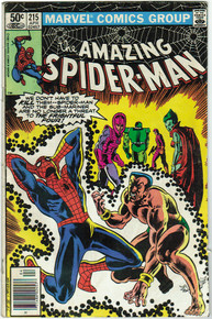 Amazing Spider Man #215 VG Front Cover