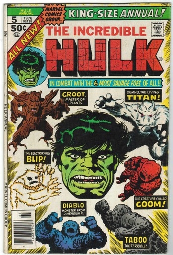 Incredible Hulk Annual #5 FN+ Front Cover