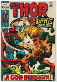 Thor #166 VG+ Front Cover