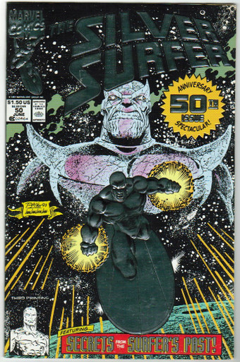 Silver Surfer #50 3rd Print VF/NM Front Cover