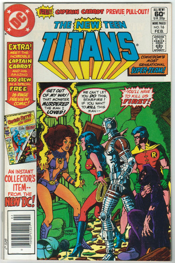 New Teen Titans #16 VF/NM Front Cover