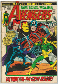 Avengers #102 GD Front Cover