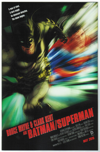 Batman/Superman #20 NM Movie Poster Variant Front Cover