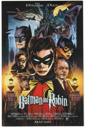 Batman & Robin #40 NM Movie Poster Variant Front Cover