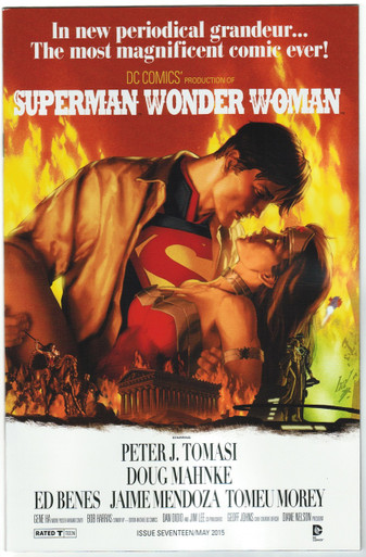 Superman/Wonder Woman #17 Movie Poster Variant NM Front Cover