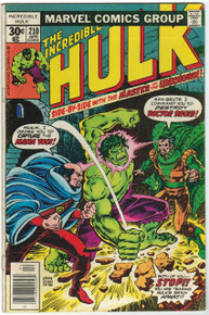 Incredible Hulk #210 VG Front Cover